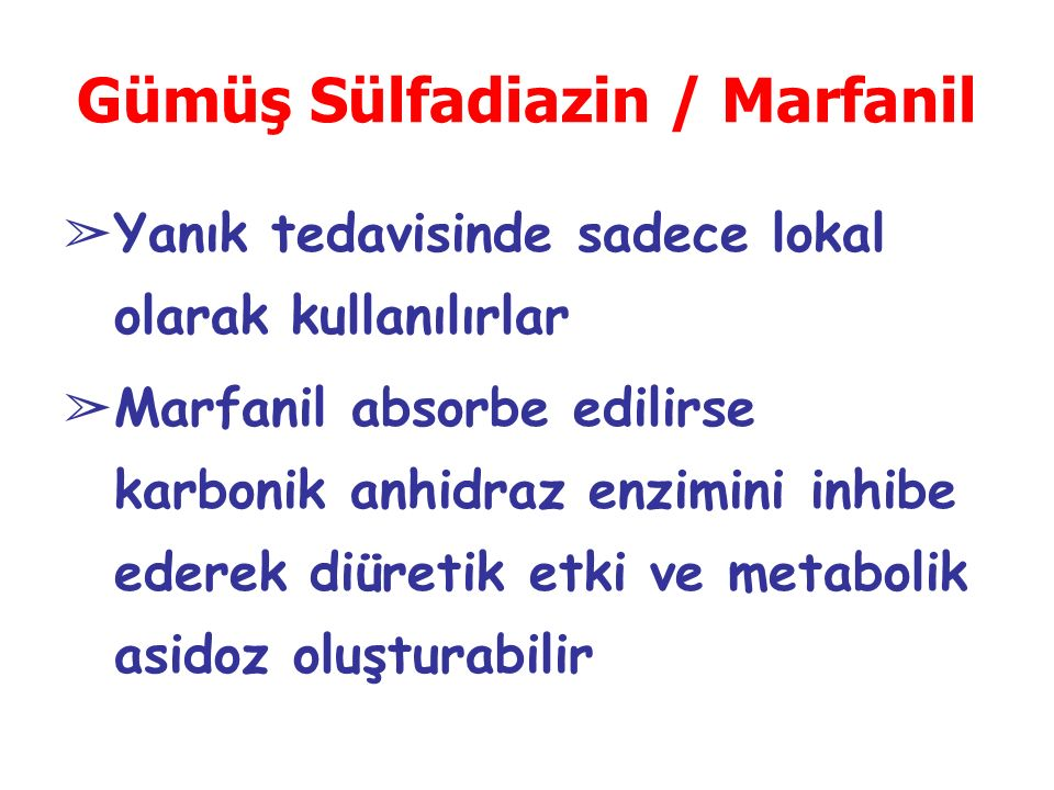 Gümüş Sülfadiazin / Marfanil