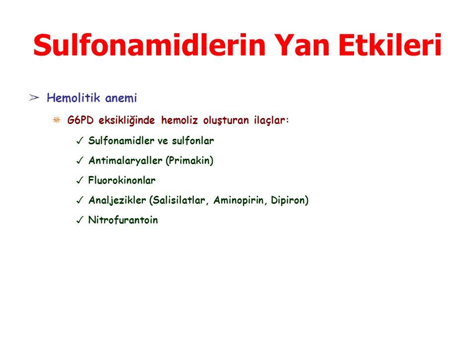 Sulfonamidlerin Yan Etkileri