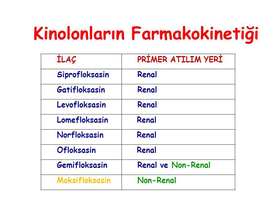 Kinolonların Farmakokinetiği