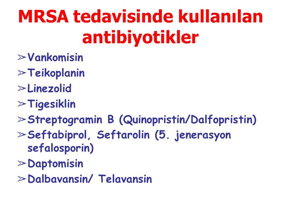 MRSA tedavisinde kullanılan antibiyotikler