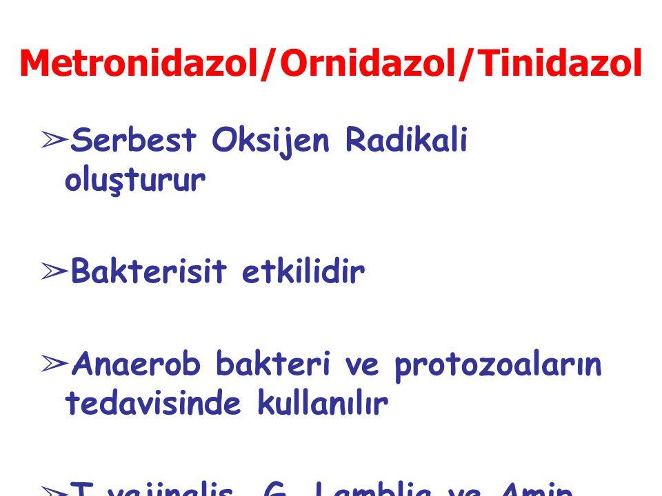 Metronidazol/Ornidazol/Tinidazol