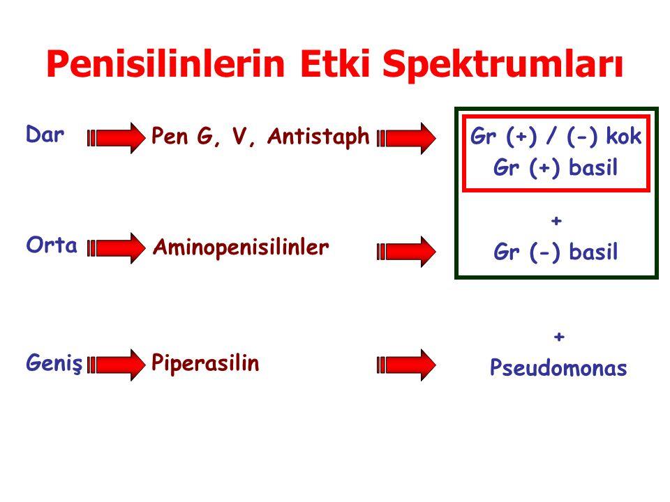 Penisilinlerin Etki Spektrumları