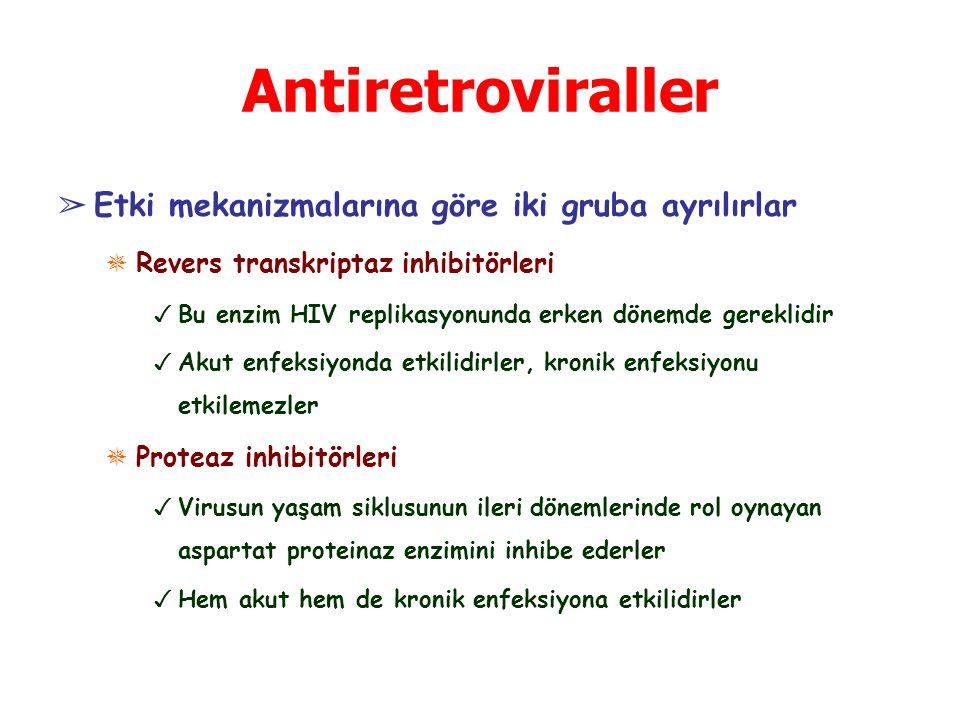 Antiretroviraller Etki mekanizmalarına göre iki gruba ayrılırlar