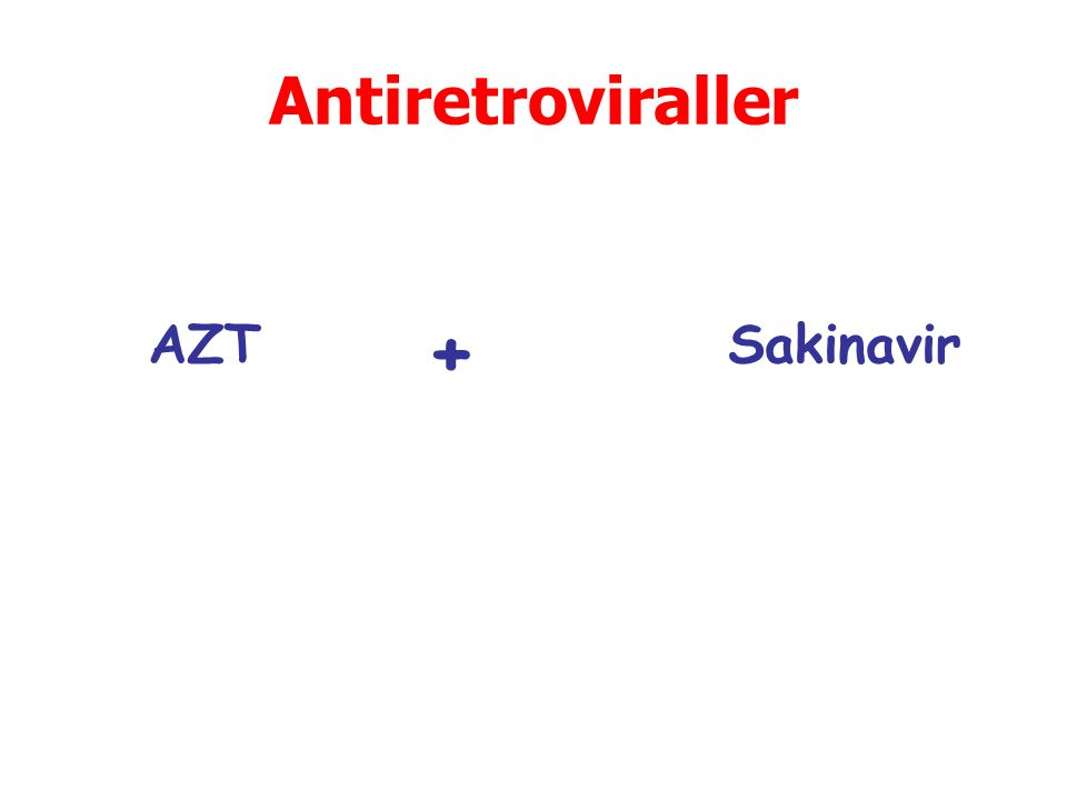 Antiretroviraller AZT + Sakinavir
