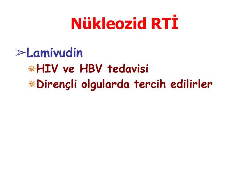 Nükleozid RTİ Lamivudin HIV ve HBV tedavisi