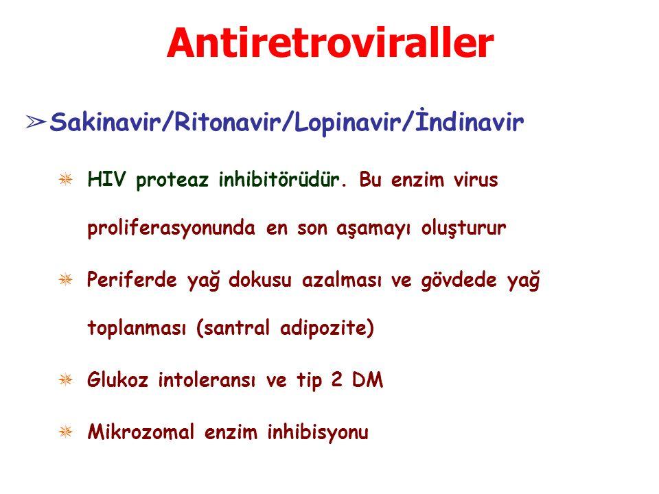 Antiretroviraller Sakinavir/Ritonavir/Lopinavir/İndinavir