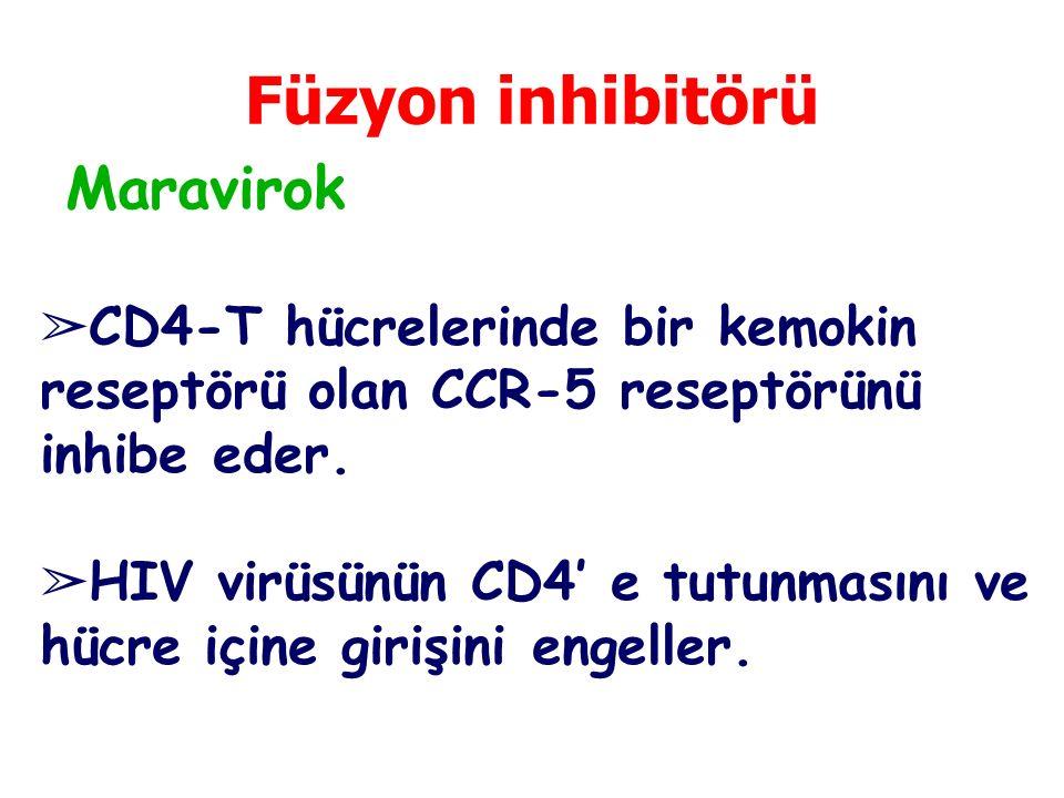 Füzyon inhibitörü Maravirok