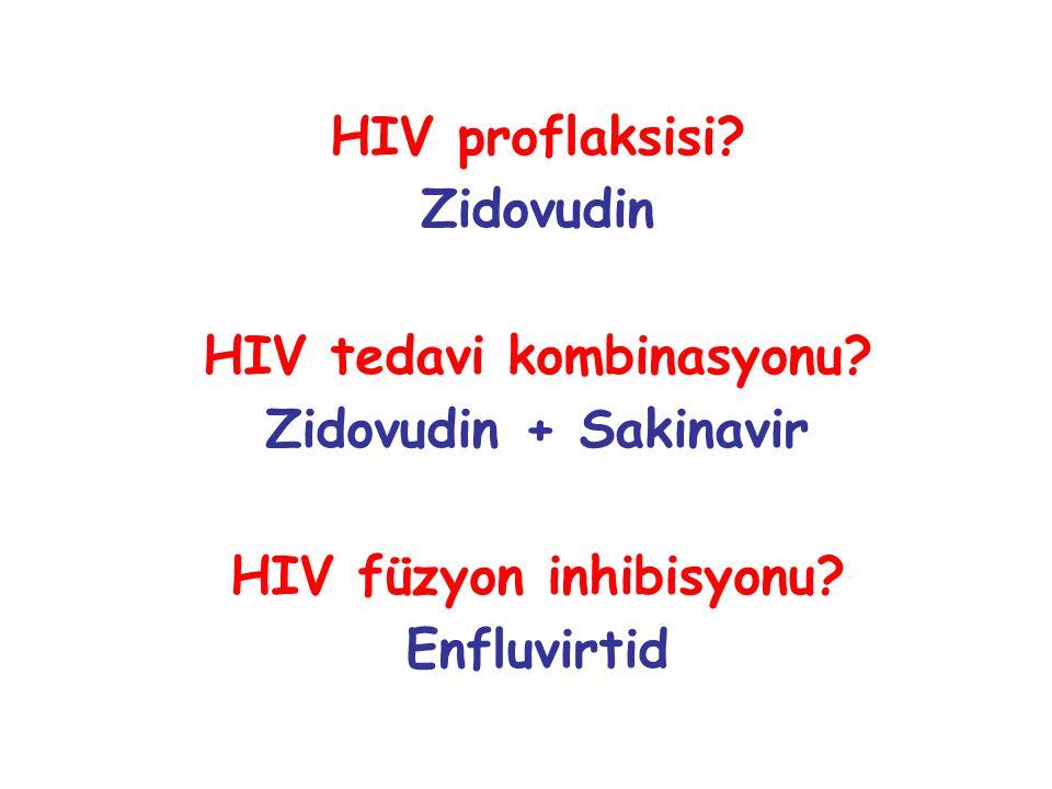 HIV tedavi kombinasyonu HIV füzyon inhibisyonu