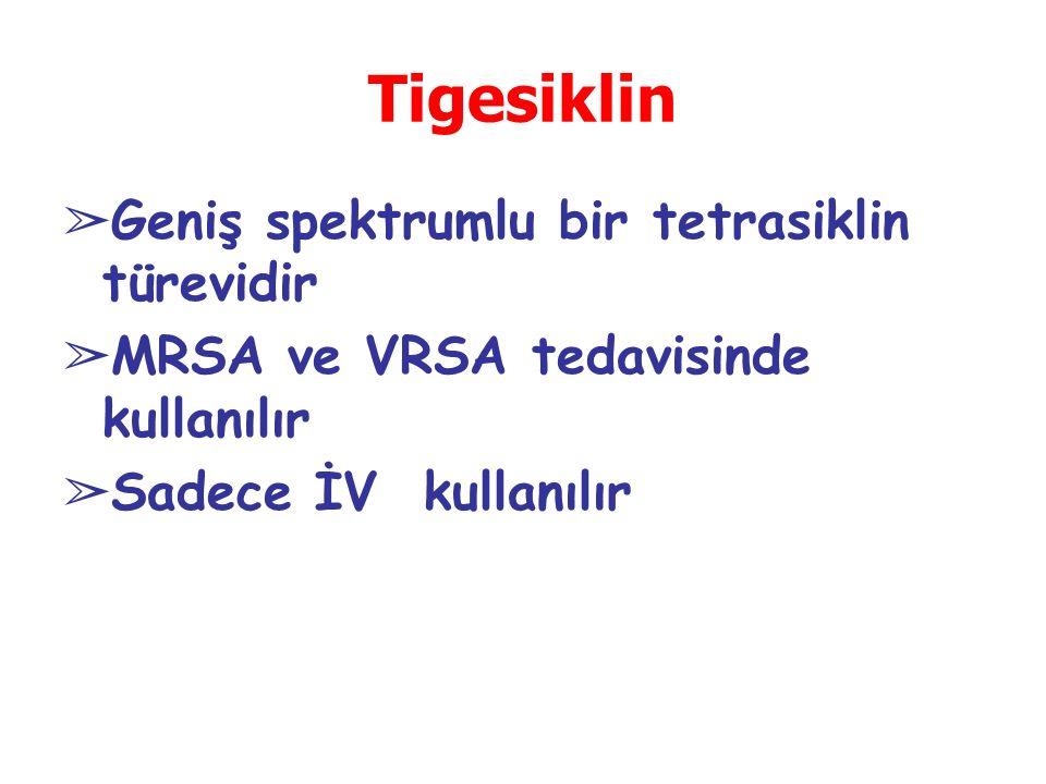 Tigesiklin Geniş spektrumlu bir tetrasiklin türevidir