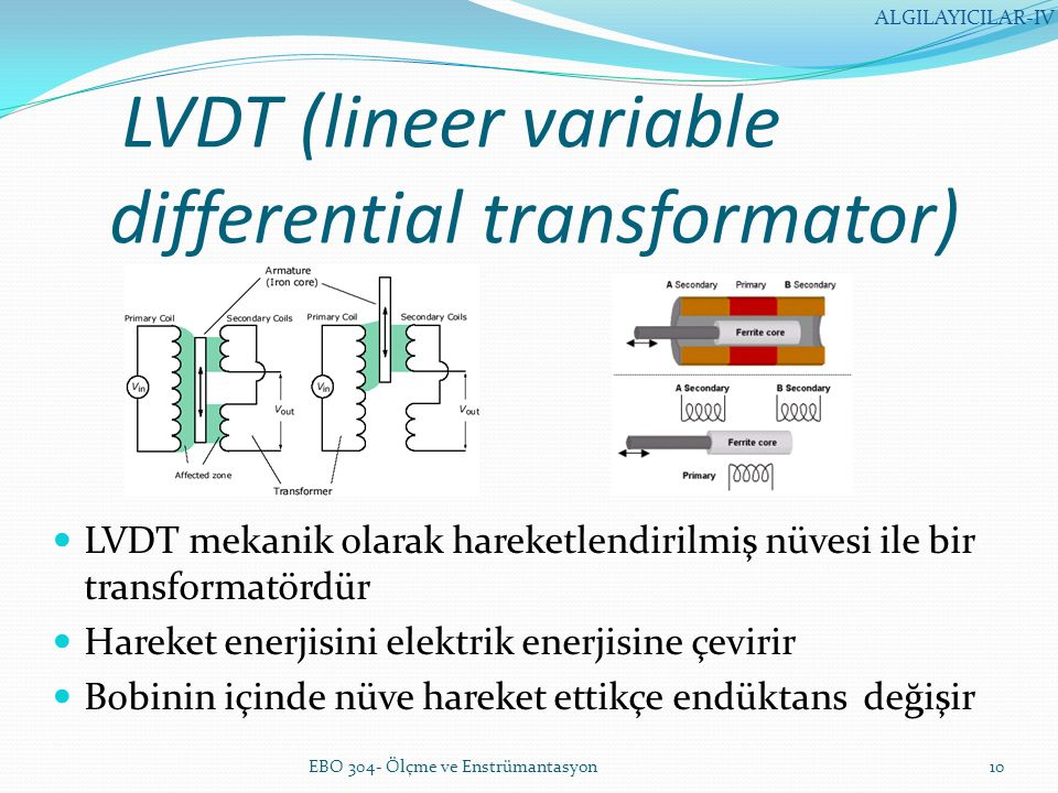 LVDT (lineer variable differential transformator)