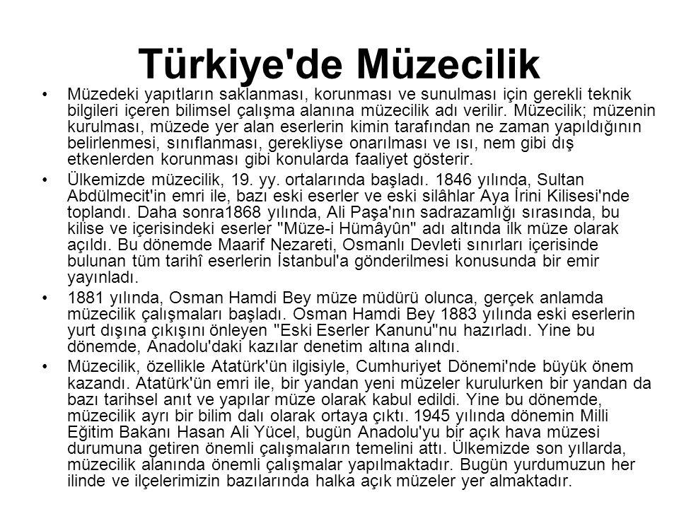 Türkiye de Müzecilik