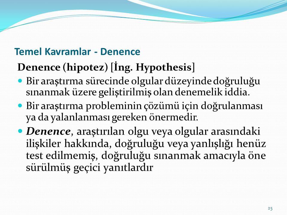 Temel Kavramlar - Denence