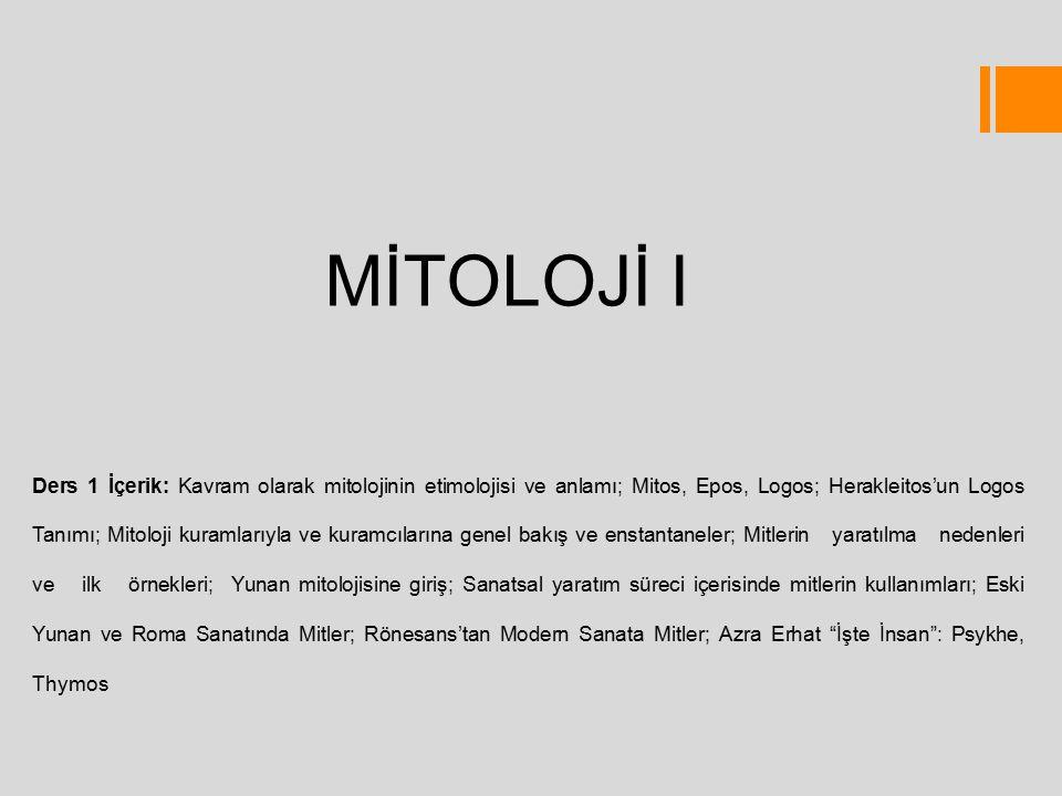 MİTOLOJİ I