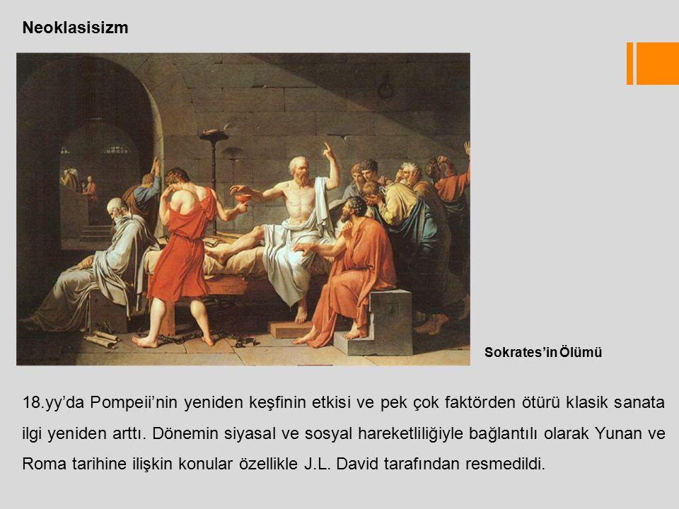 Neoklasisizm Sokrates'in Ölümü.