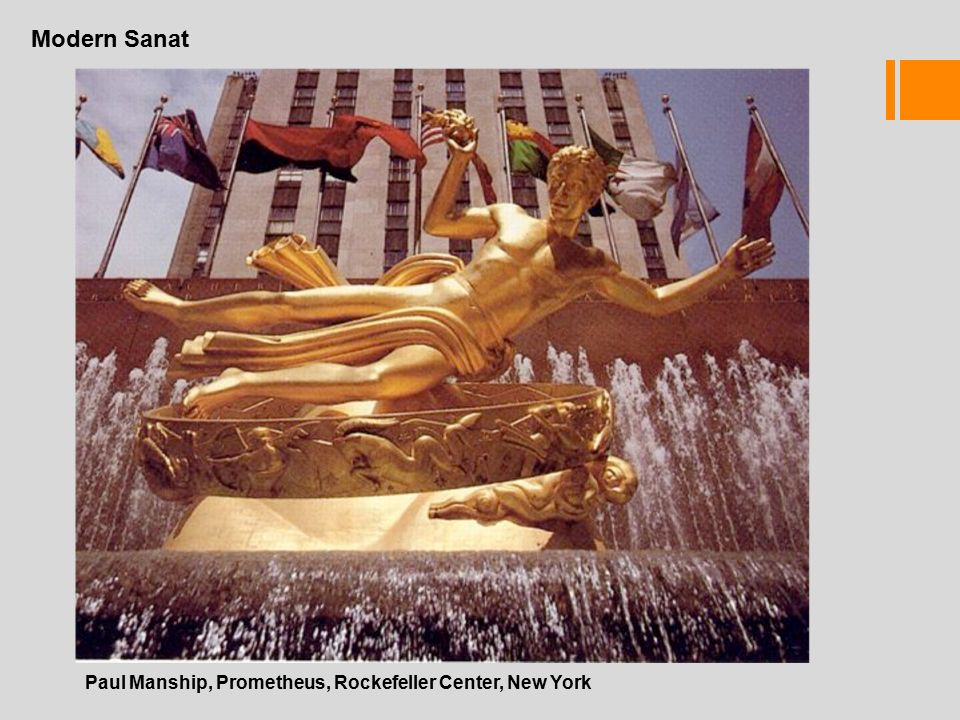 Modern Sanat Paul Manship, Prometheus, Rockefeller Center, New York