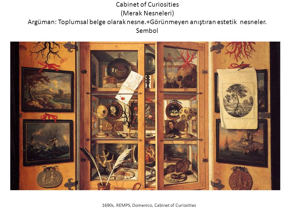 1690s, REMPS, Domenico, Cabinet of Curiosities