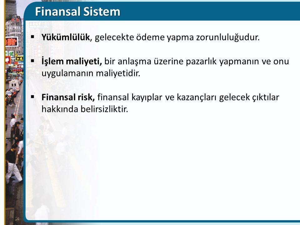 Finansal Sistem Yükümlülük, gelecekte ödeme yapma zorunluluğudur.