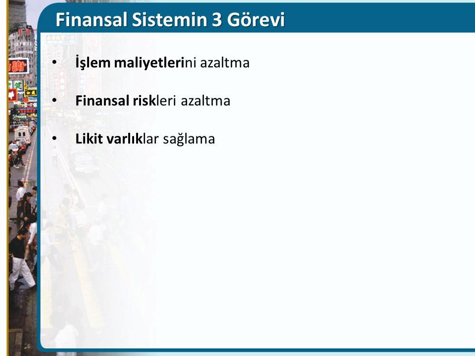 Finansal Sistemin 3 Görevi