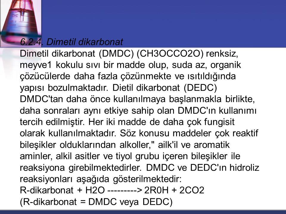6.2.4. Dimetil dikarbonat