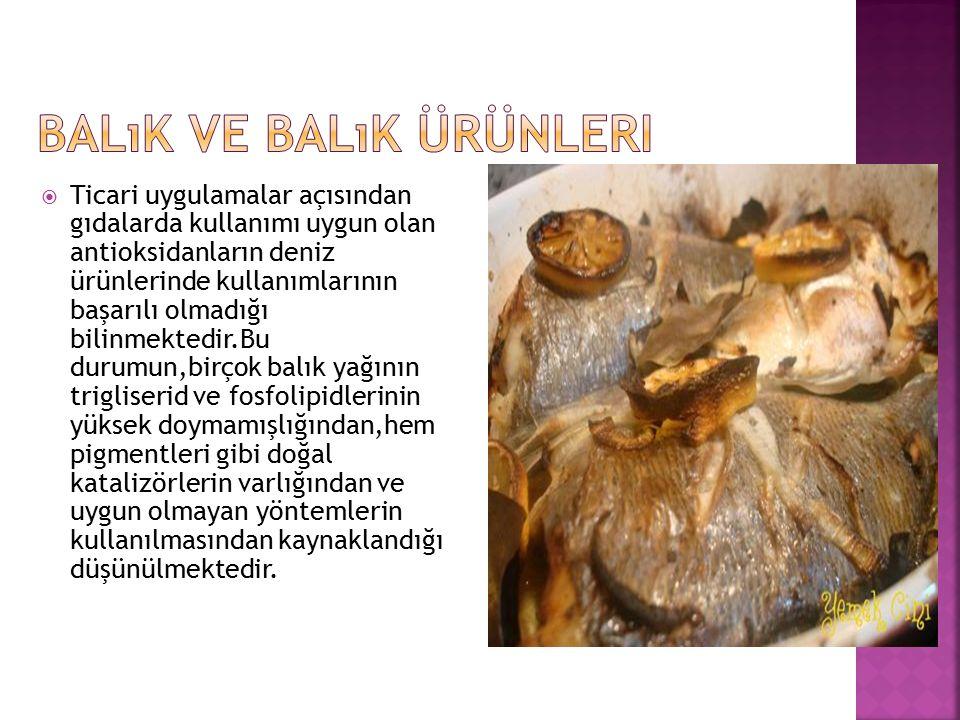 Balık ve Balık Ürünleri