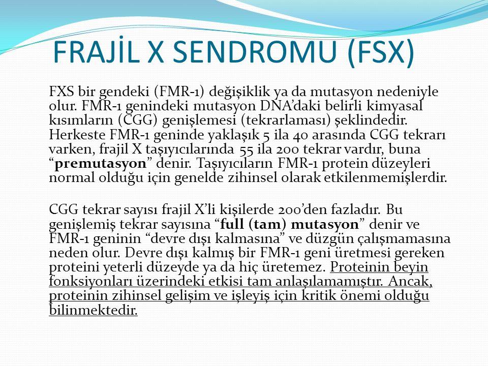 FRAJİL X SENDROMU (FSX)