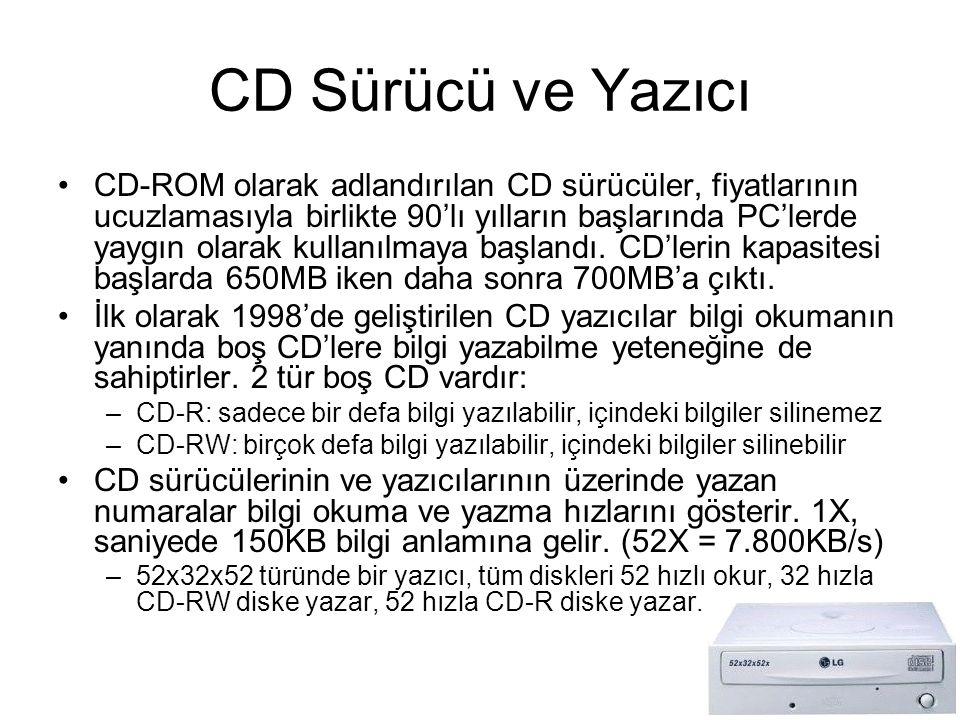 CD Sürücü ve Yazıcı