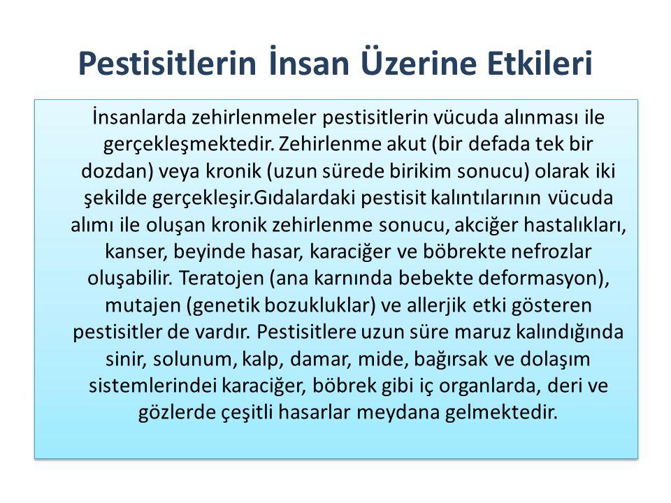 Pestisitlerin İnsan Üzerine Etkileri