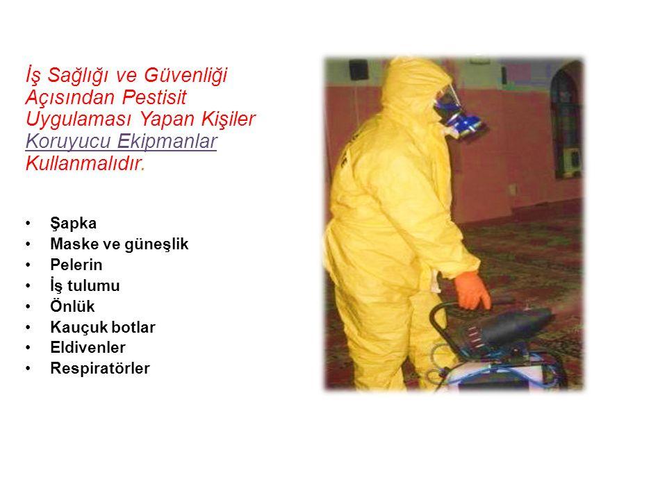 İş Sağlığı ve Güvenliği Açısından Pestisit Uygulaması Yapan Kişiler Koruyucu Ekipmanlar Kullanmalıdır.