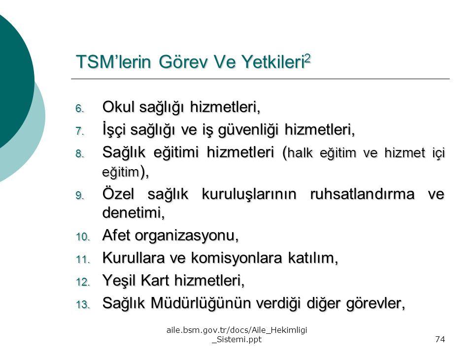 TSM'lerin Görev Ve Yetkileri2