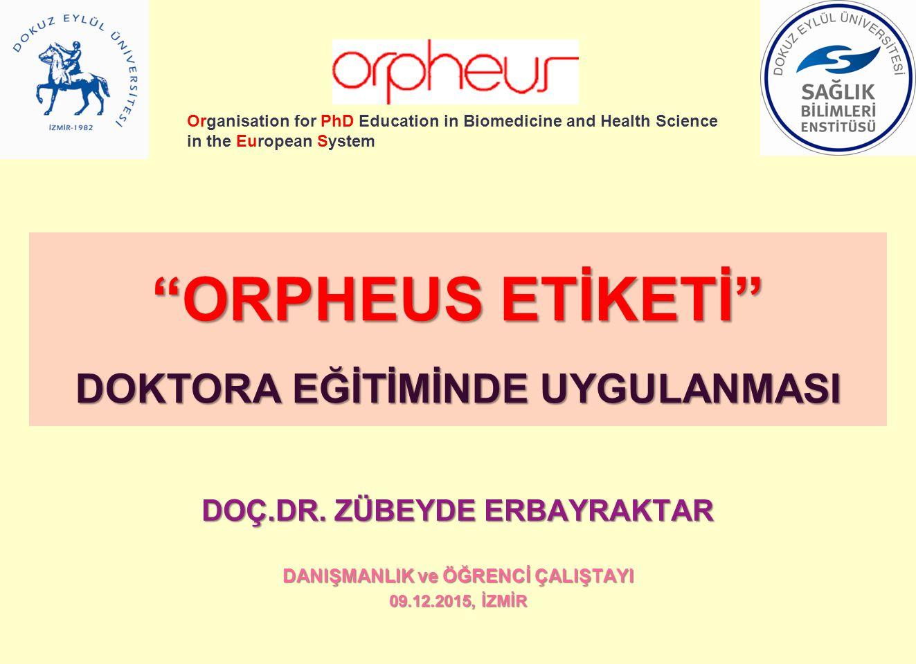 ORPHEUS ETİKETİ DOKTORA EĞİTİMİNDE UYGULANMASI
