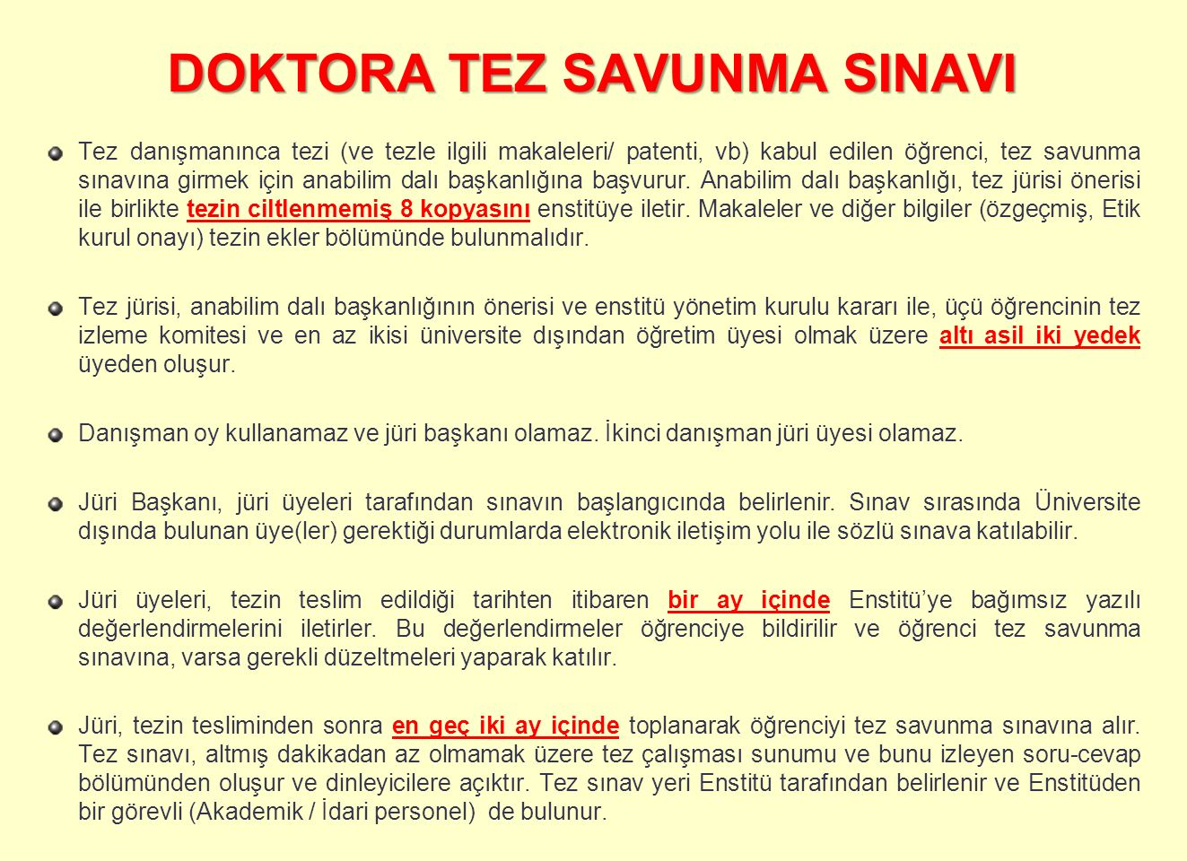 DOKTORA TEZ SAVUNMA SINAVI