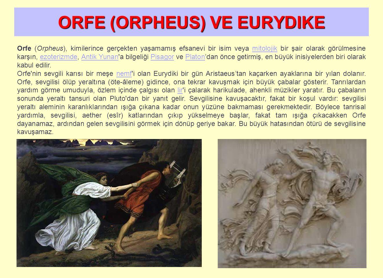 ORFE (ORPHEUS) VE EURYDIKE