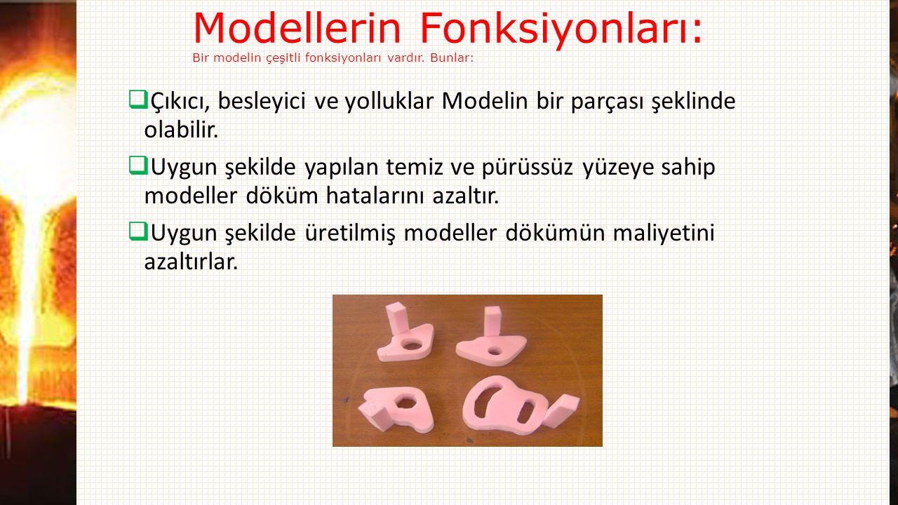 Modellerin Fonksiyonları: Bir modelin çeşitli fonksiyonları vardır