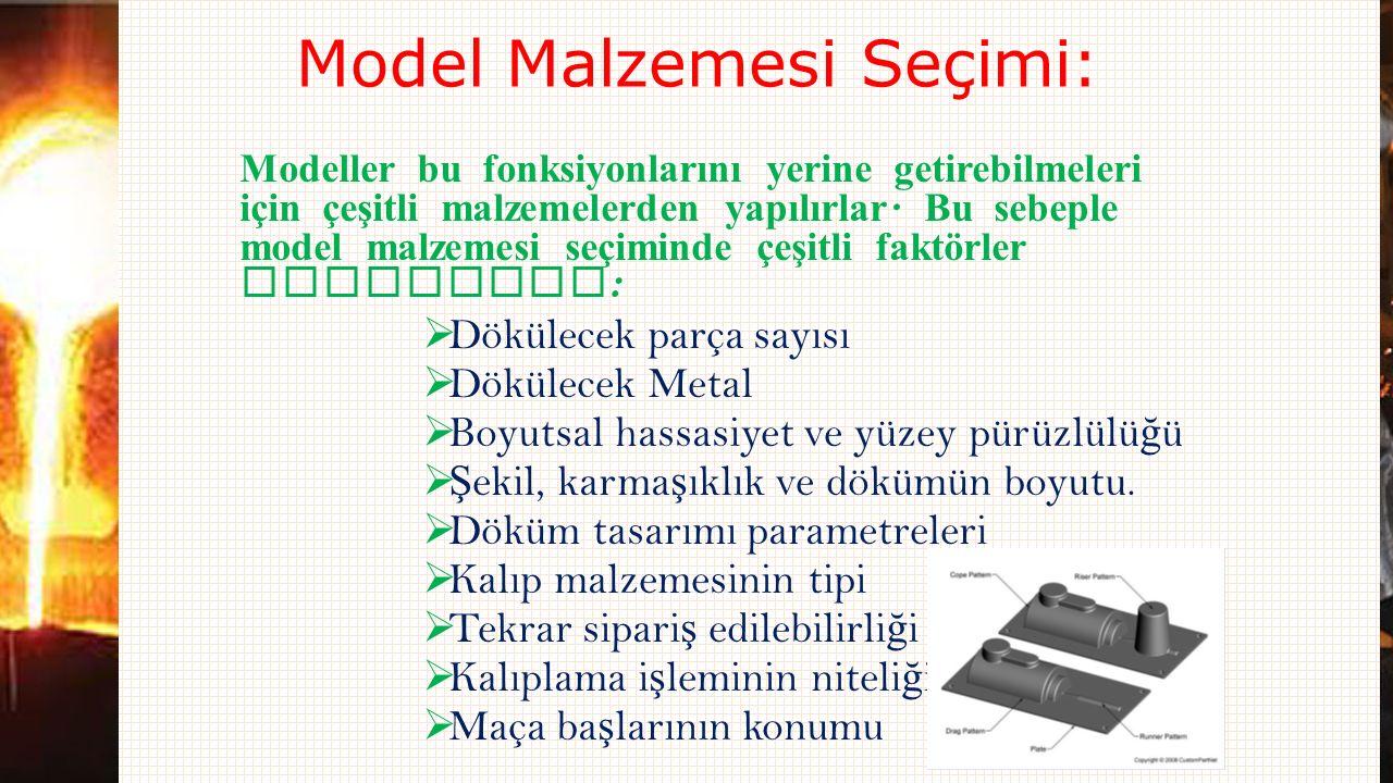 Model Malzemesi Seçimi: