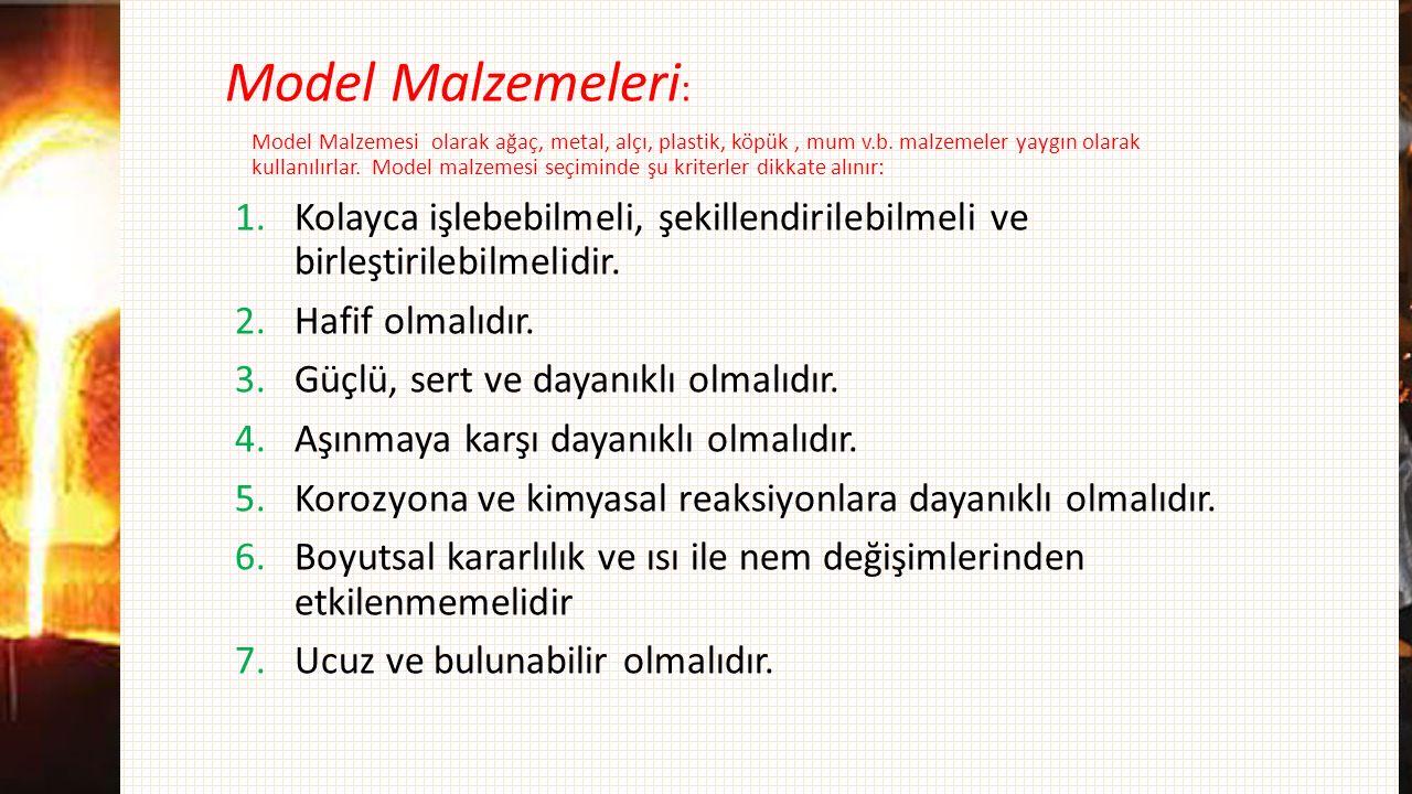 Model Malzemeleri: