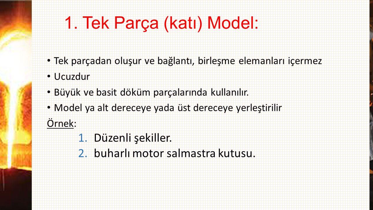 1. Tek Parça (katı) Model: