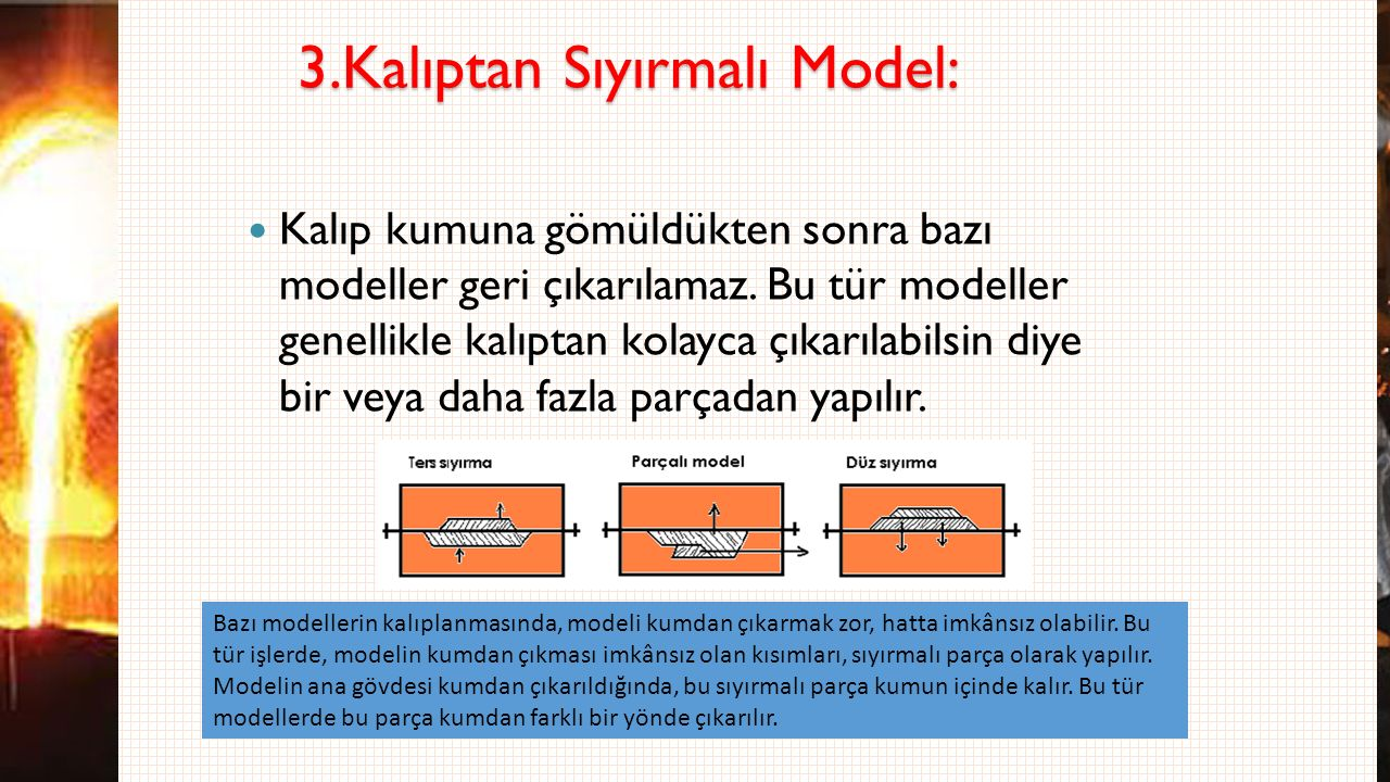 3.Kalıptan Sıyırmalı Model: