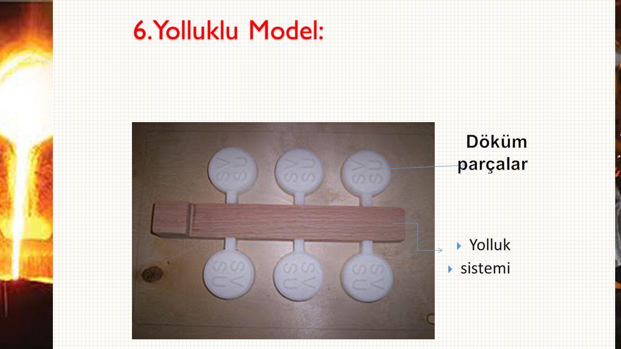 6.Yolluklu Model: Döküm parçalar Yolluk sistemi