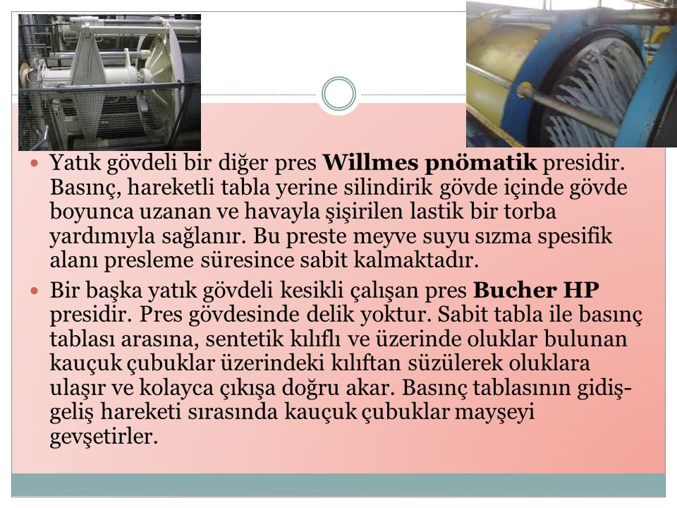 Yatık gövdeli bir diğer pres Willmes pnömatik presidir