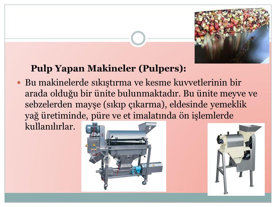 Pulp Yapan Makineler (Pulpers):