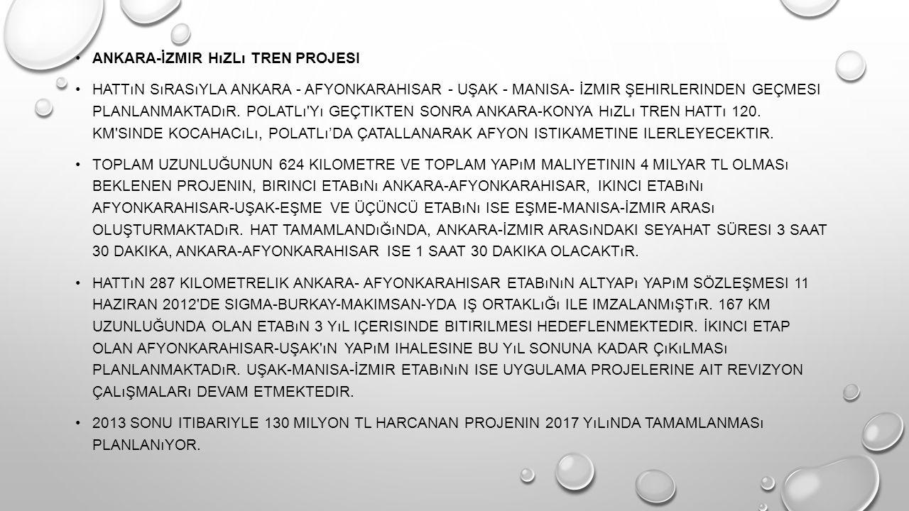 Ankara-İzmir hızlı tren projesi