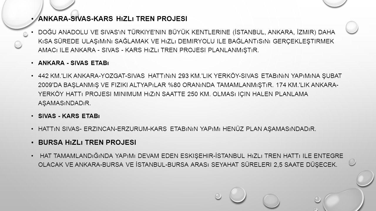 Ankara-Sivas-Kars hızlı tren projesi