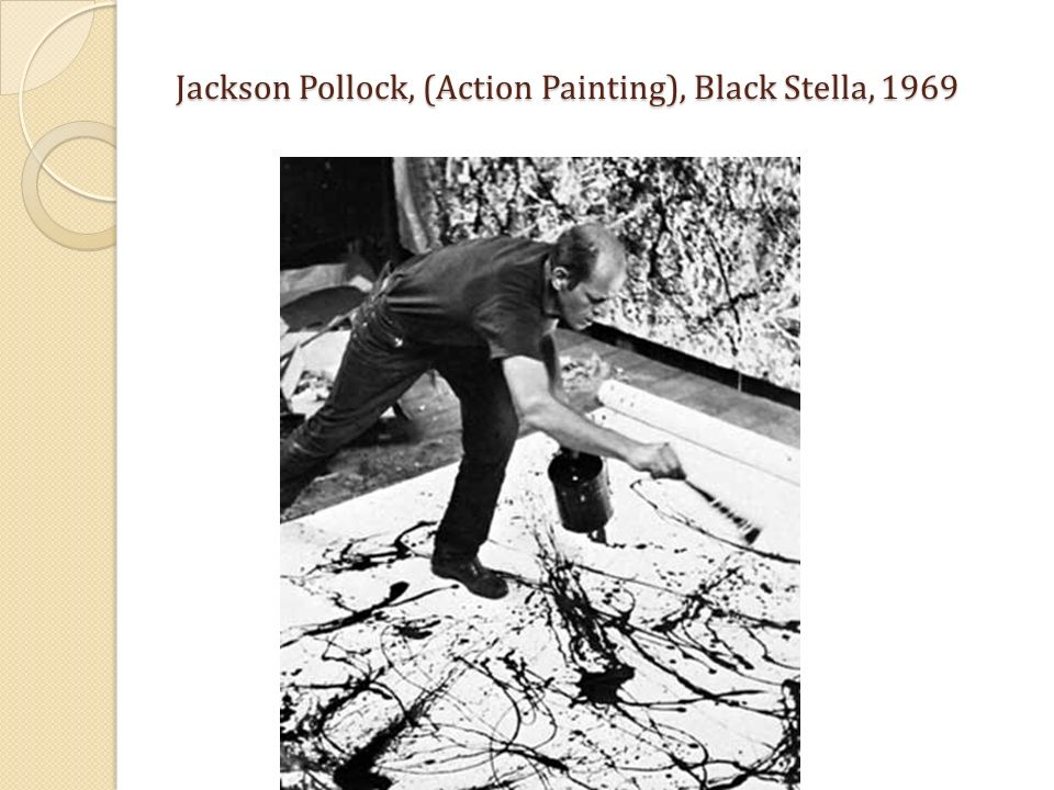 Jackson Pollock, (Action Painting), Black Stella, 1969