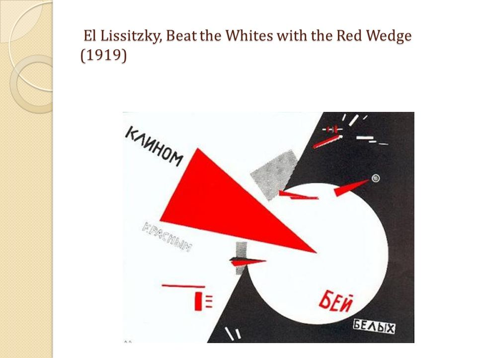 El Lissitzky, Beat the Whites with the Red Wedge (1919)