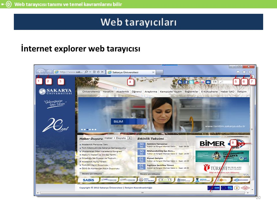Web tarayıcıları İnternet explorer web tarayıcısı