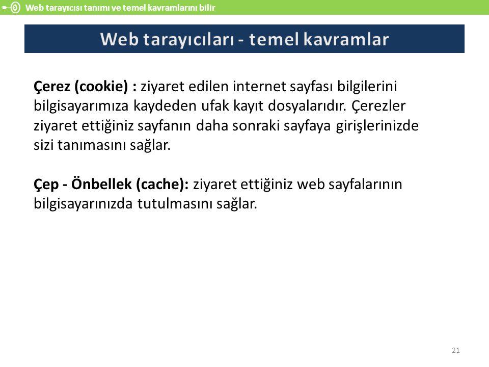 Web tarayıcıları - temel kavramlar