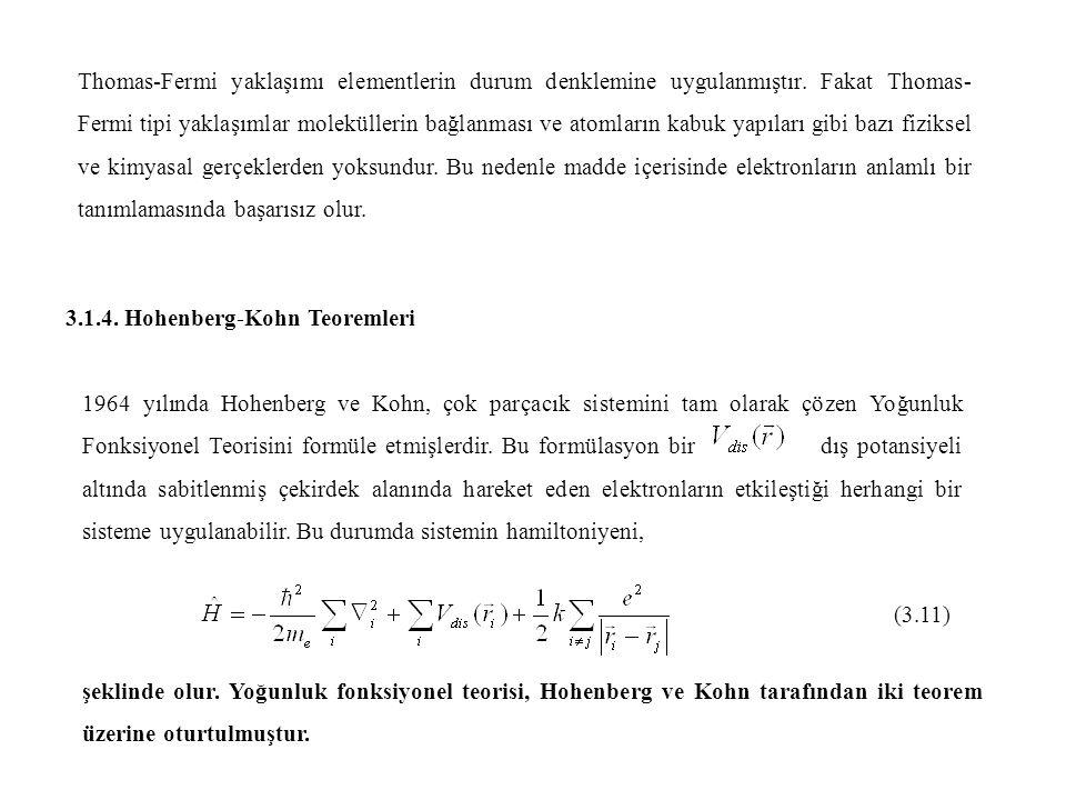 Thomas-Fermi yaklaşımı elementlerin durum denklemine uygulanmıştır
