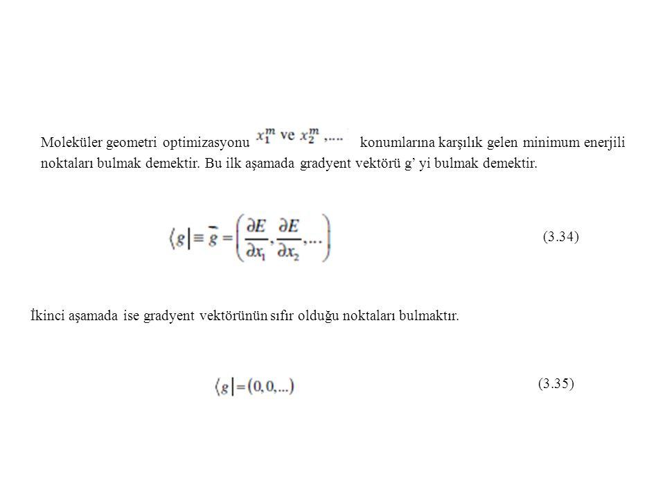 Moleküler geometri optimizasyonu