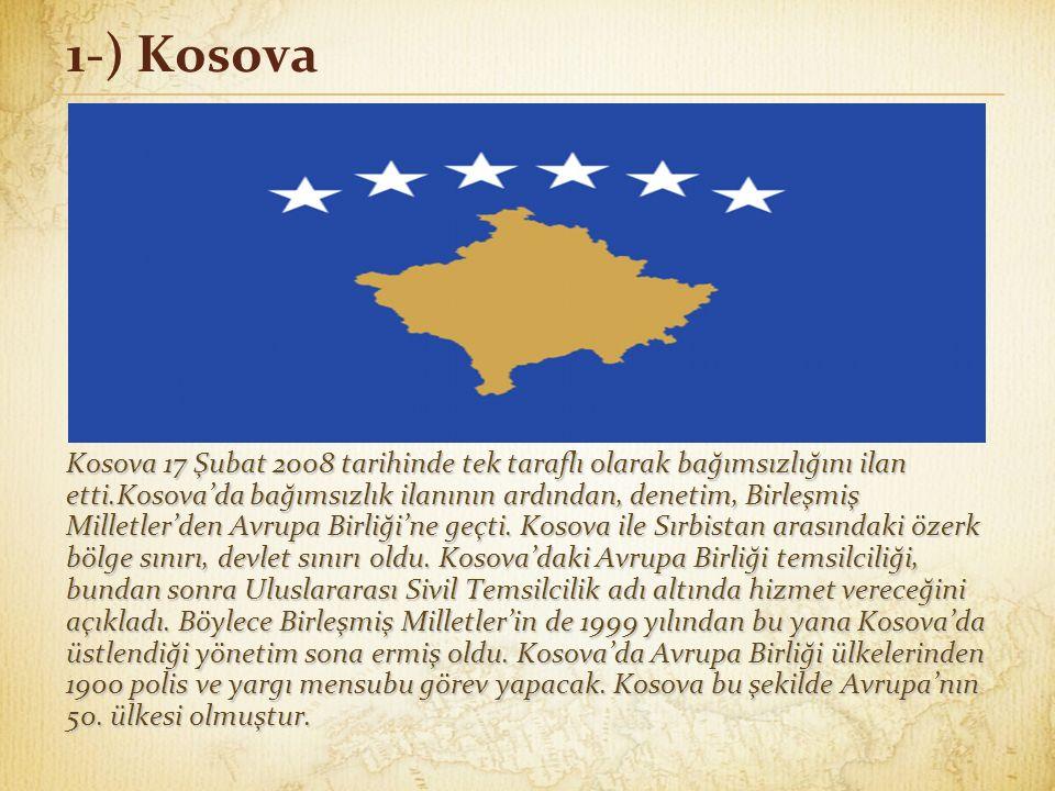 1-) Kosova