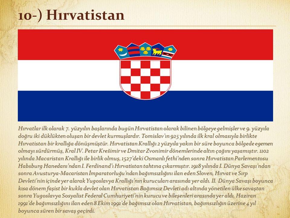 10-) Hırvatistan